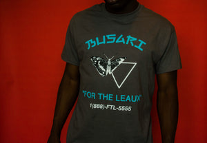 BUSARI vs. LEAUX Tee - Grey