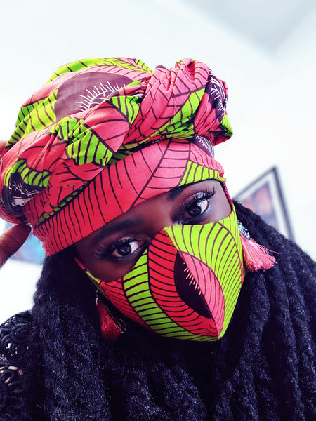Afia headwrap and mask, Set - Akese Stylelines