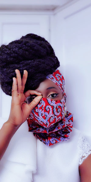 Ama headwrap and  Mask Set - Akese Stylelines
