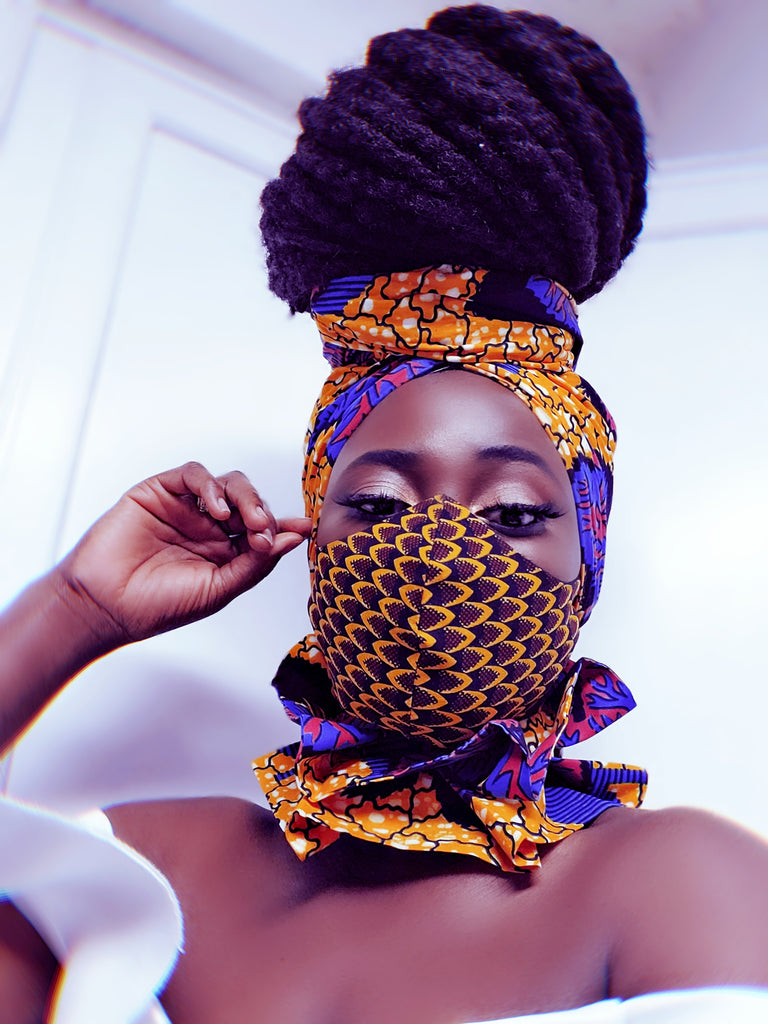 Abeyie Mask and Headwrap SET