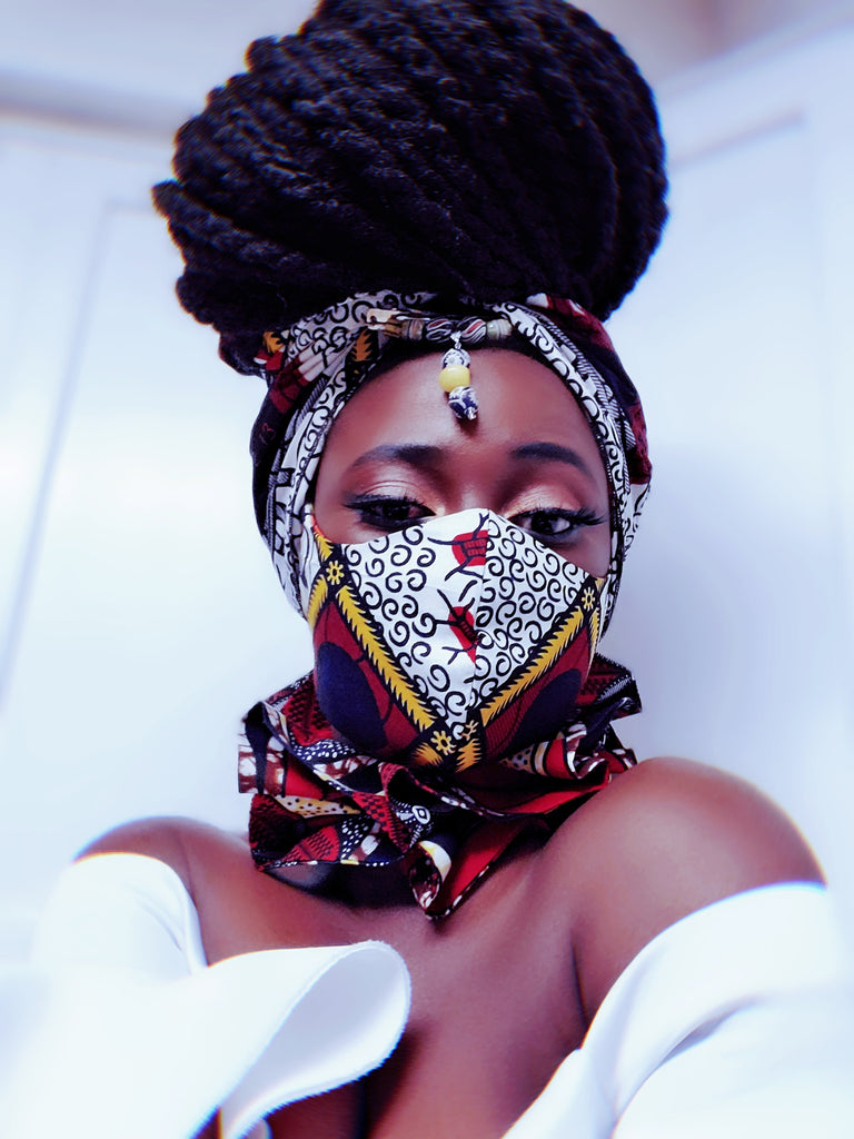 Nandi Headwrap, Mask and Neck piece SET - Akese Stylelines
