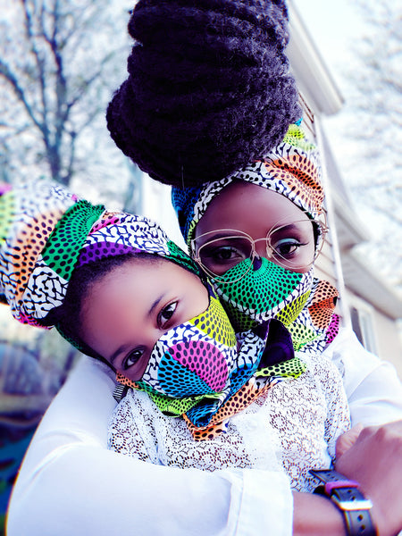 Maame mask. As seen in Oprah magazine - Akese Stylelines