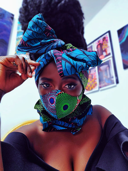 Adwoanua tapestry headwrap, WIRELESS - Akese Stylelines