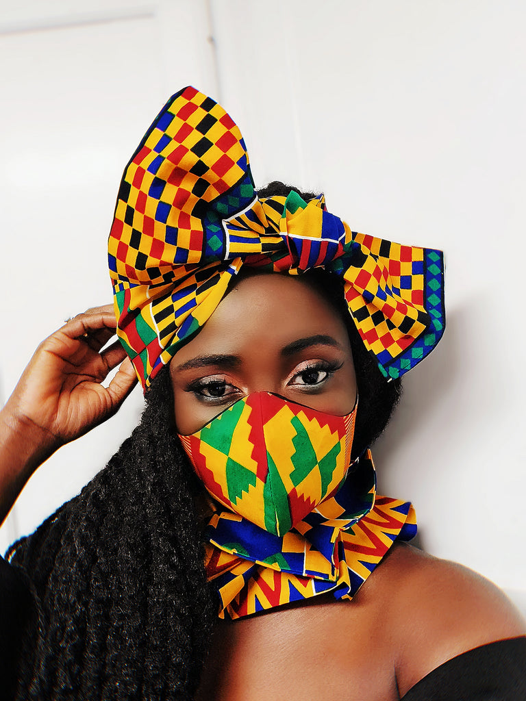 Fatia tapestry headwrap, WIRELESS - Akese Stylelines