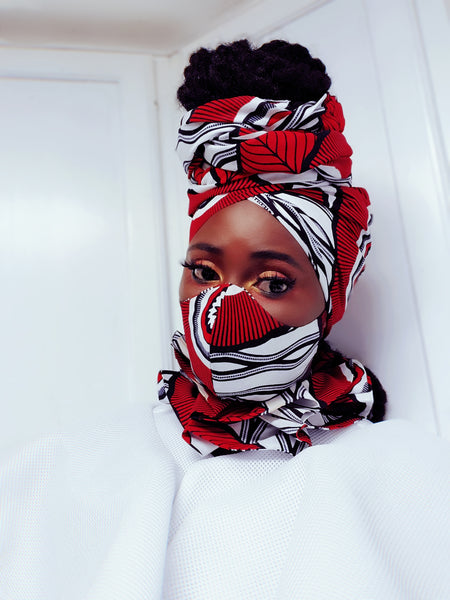 Delta mask, headwrap and neckpiece. - Akese Stylelines