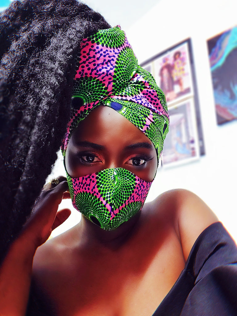 AKA mask and  headwrap set. - Akese Stylelines
