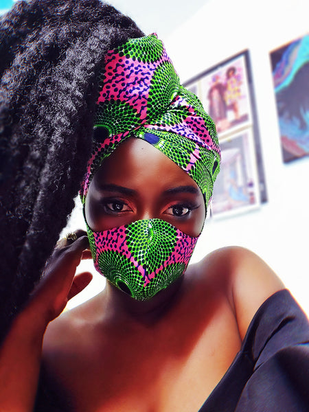 AKA mask and  headwrap set.
