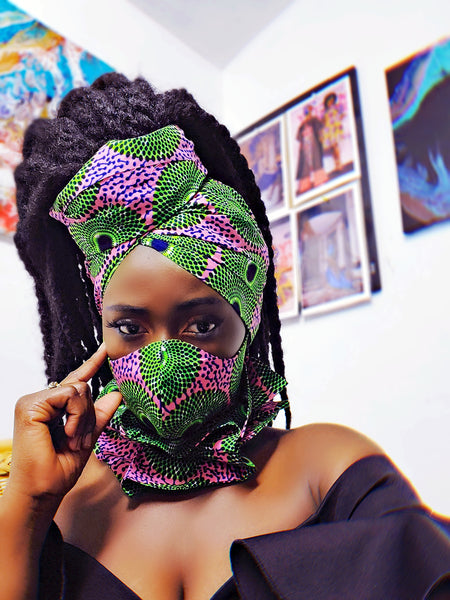 AKA mask, headwrap and neckpiece.