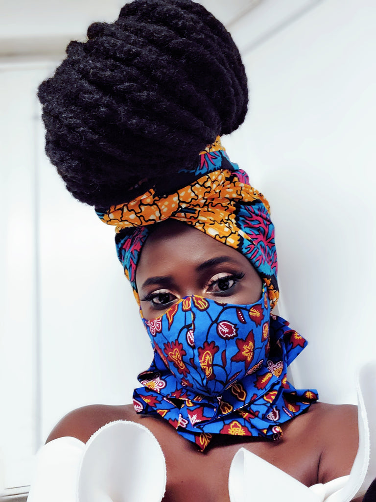 Dromo mask ,headwrap and neck piece set - Akese Stylelines