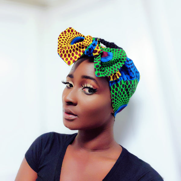 Mansa tapestry headwrap, WIRELESS