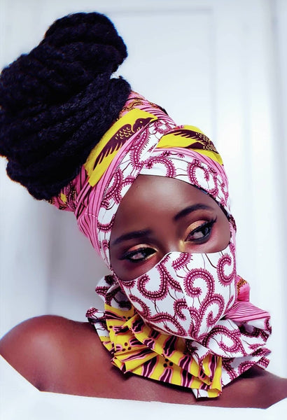 Amina Ankasa mask and neck piece.