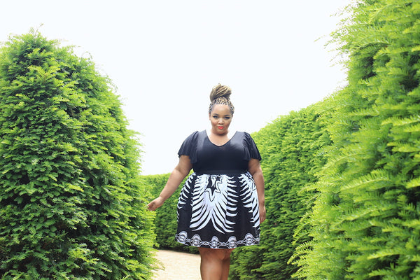 Alewa African Print Skirt with Pockets
