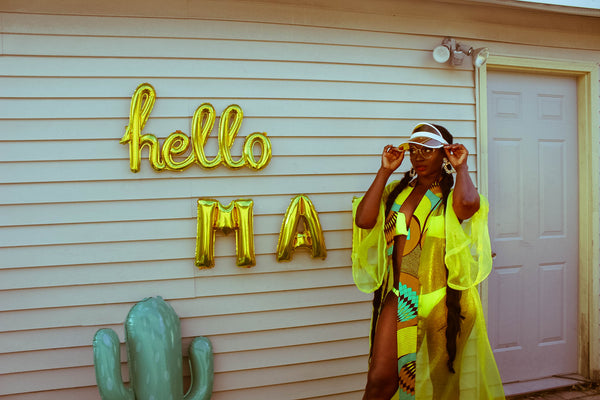 Swimsuit Lemon Love. - Akese Stylelines