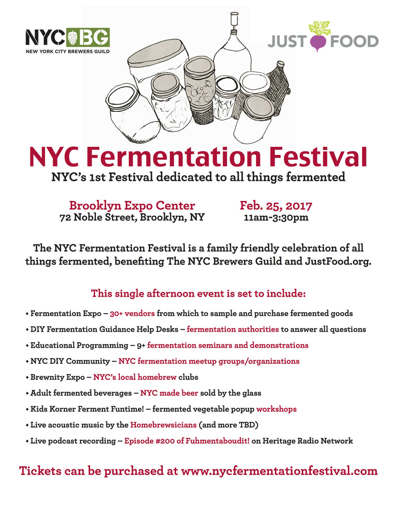 MEET US AT THE 1ST ANNUAL NYC FERMENTATION FESTIVAL