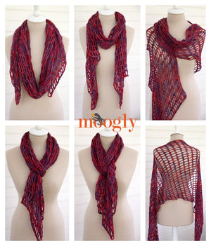 Artfully Simple Angled Scarf by Tamara Kelly