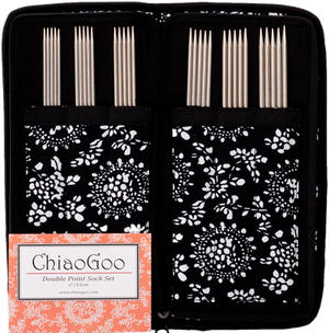 "ChiaoGoo - 6"" Stainless Steel Double Point Needle Sock Set"