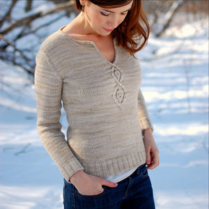 Cabled Leaf Pullover by Alana Dakos