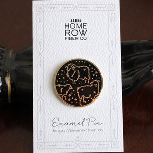 Celestial Sheep Enamel Pin by Home Row Fiber Co.