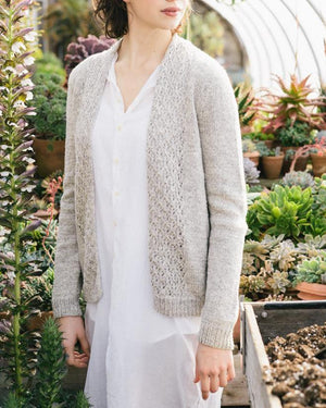 Silver Leaf Cardi by Hannah Fettig -  Gift Set with Making No. 1 - Flora