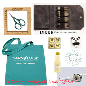 "LYKKE - Driftwood 5"" Interchangeable Needle Gift Set (US 4-17)"
