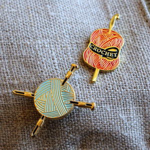Crochet Enamel Pin by Firefly Notes