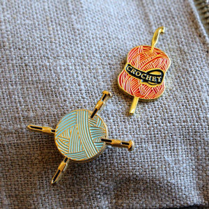 Yarn & Needles Enamel Pin by Firefly Notes