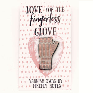 Fingerless Glove Enamel Pin by Firefly Notes