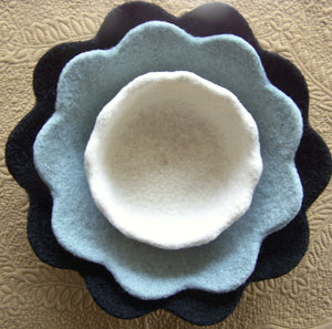 Felted Petal Bowls by Melanie Rice