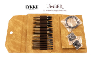 "LYKKE - Umber 5"" Interchangeable Needle Set (US 4-17)"