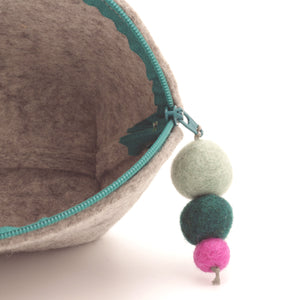 Brooklyn Haberdashery - Small Brigid Wool Pom Pom Pouch
