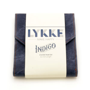 "Lykke - Indigo 6"" Crochet Hook Set Sizes E-M"