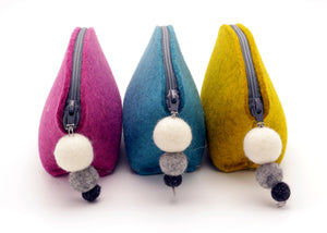 Brooklyn Haberdashery - Small Brigid Wool Pom Pom Pouch BRIGHTS