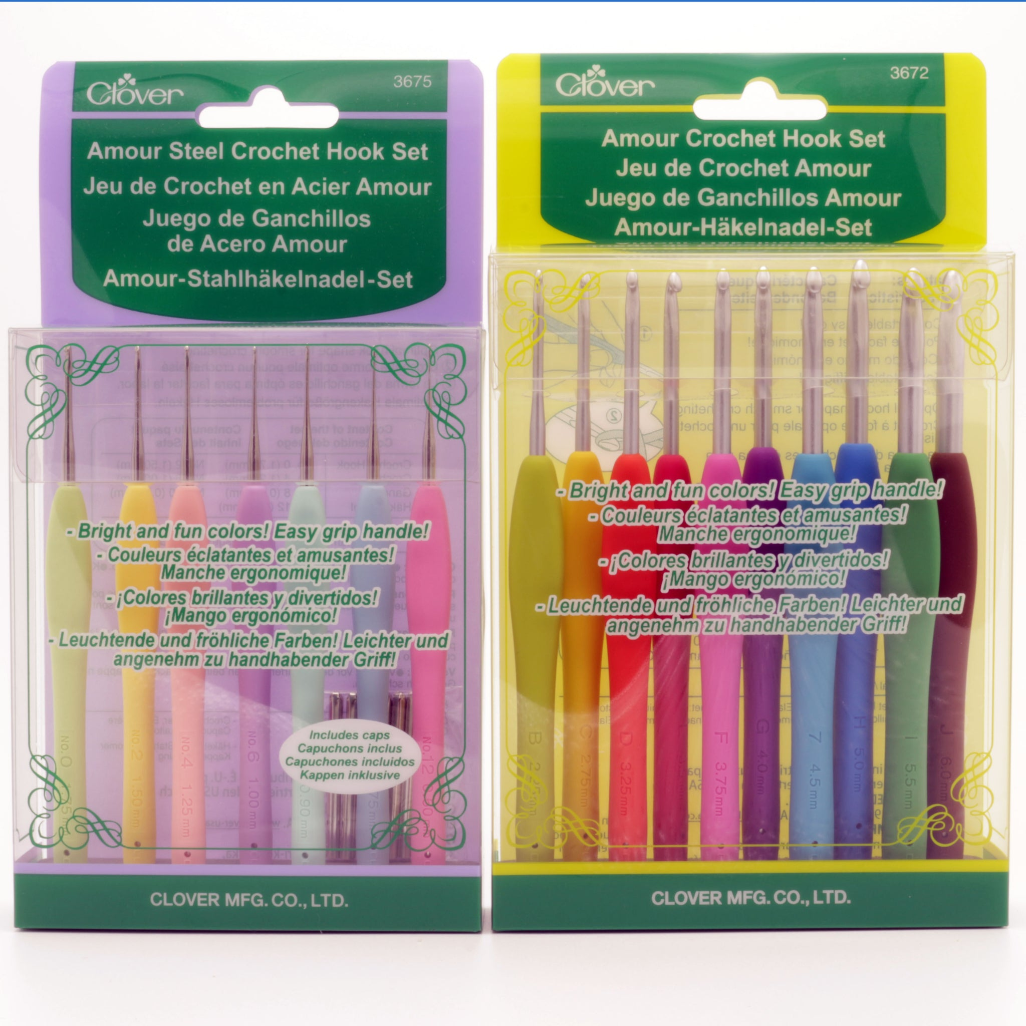 Clover Amour Crochet Hook Set Without Case Yarn Loop