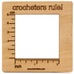"Katrinkles - 2"" Swatch Gauge CROCHETERS RULE!"