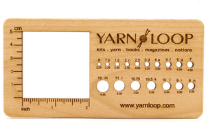 "Katrinkles - Yarn Loop 2"" Swatch Gauge & Needle Gauge"