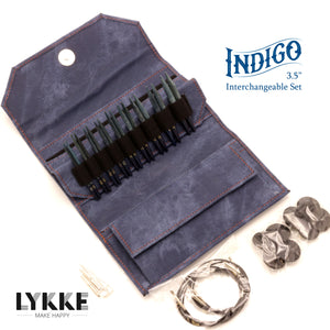 "LYKKE - Indigo 3.5"" Interchangeable Needle Set (US 3-10.5)"