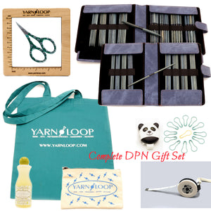 "LYKKE - Indigo 6"" Double-Pointed Knitting Needle Gift Sets US 0-13"