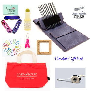 "Lykke - Indigo 6"" Crochet Hook Gift Set Set (Sizes E-M)"