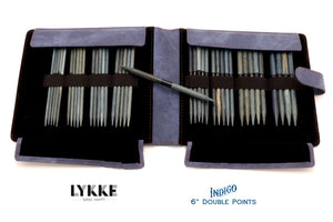 "LYKKE - Indigo 6"" Double-Pointed Knitting Needle Set US 6-13"