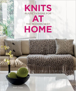 Geometric Cable Throw by Ruth Cross - Gift Set with Knits at Home Book