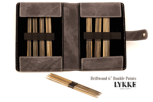 "LYKKE 6"" Driftwood Double-Pointed Knitting Needle Set US 0-5"