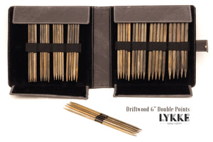 "LYKKE 6"" Driftwood Double-Pointed Knitting Needle Set US 6-13"