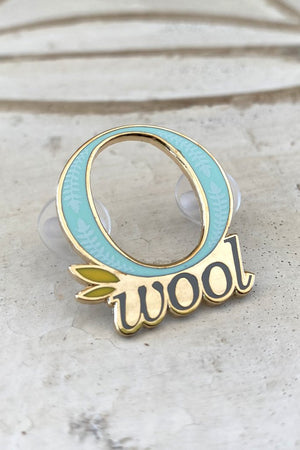 O-Wool Enamel Pin by Home Row Fiber Co.