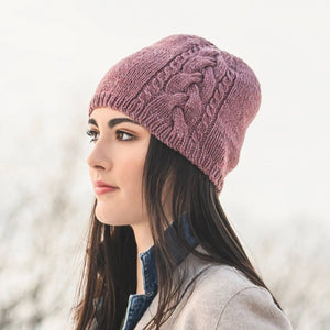 Claremont Cabled Hat by Virginia Sattler-Reimer