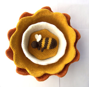 Sunny to Hunny Bowls Coasters and Bee by Melanie Rice