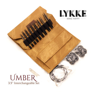 "LYKKE - Umber 3.5"" Interchangeable Needle Set (US 3-10.5)"