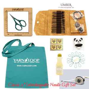 "LYKKE - Umber 5"" Interchangeable Needle Gift Set (US 4-17)"