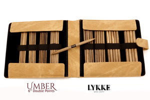 "LYKKE - Umber 6"" Double-Pointed Knitting Needle Set US 6-13"
