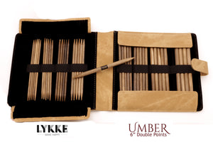 "LYKKE - Umber 6"" Double-Pointed Knitting Needle Set US 6-13 PRE-ORDER"