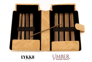 "LYKKE - Umber 6"" Double-Pointed Knitting Needle Set US 0-5"